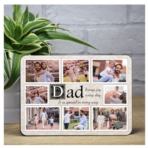 Personalised Dad Sentiment Wood Photo Frame F60 Fathers Day Birthday Christmas Gift